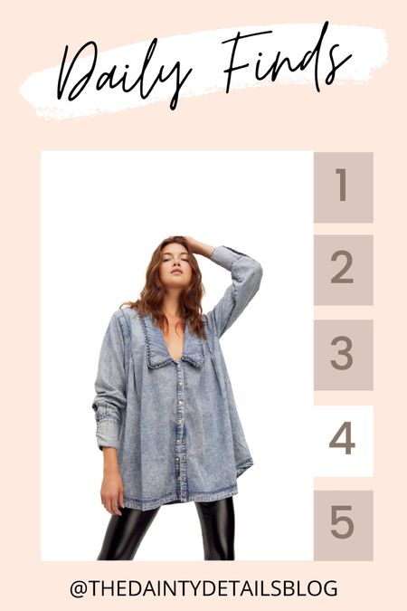 Daily finds: the perfect oversized denim blouse for fall!   #LTKstyletip