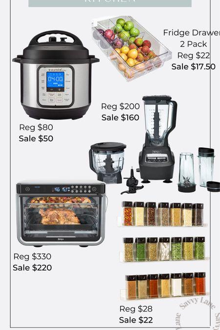 Amazon prime day kitchen appliances and organization on sale ninja blender and food processor, ninja foodie xl, instapot, fridge organizational drawers http://liketk.it/3idcM #liketkit @liketoknow.it #LTKhome #LTKsalealert #LTKfamily