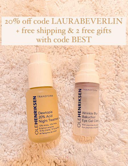 Skincare routine Night serum 2-3x a week Under eye cream morning & night    #skincare #laurabeverlin  #LTKbeauty #LTKunder50 #LTKsalealert