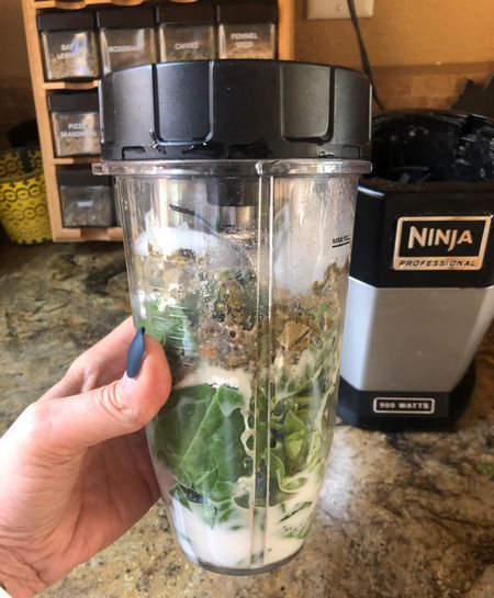 Best smoothie for skin , hair and nails. Tastes good! 2 handfuls of spinach and a scoop or tsp of everything below. Blender is the bomb and doesn't take up a lot of room- easy to store.   #LTKfit #LTKfamily #LTKhome