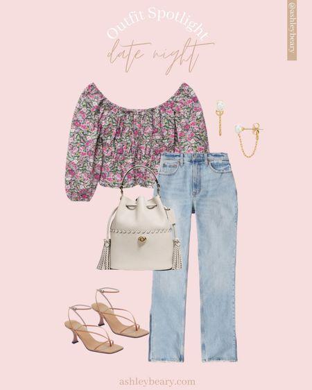 The perfect little summer date night #ootd http://liketk.it/3iIa3 @liketoknow.it #liketkit #LTKstyletip #LTKsalealert #LTKunder50 #abercrombie #denim #floraltop #strappyheel
