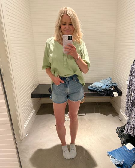 High rise mom shorts curve love - wearing size 26/2 (true size, most of the time) http://liketk.it/3fC4b #liketkit @liketoknow.it
