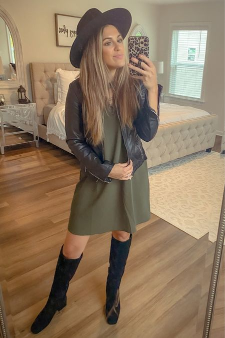 My three fall MUST haves: a good hat, a great leather jacket, and comfy knee high boots ✨😻👏🏻 http://liketk.it/2WKYt #liketkit @liketoknow.it #LTKunder100 #StayHomeWithLTK #LTKfamily