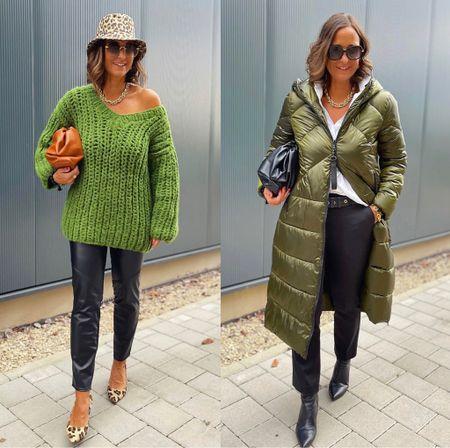 Werbung 💚 Green Love 💚  Kuscheliger oversize Strick oder langer Steppmantel .  Welcher Look ist euer Favorit ?  Outfits @ph_modewelt  💚  Mit meinem Code 👉Tanja20 👈spart ihr 20% auf den teuersten Artikel der Bestellung.Er ist kombinierbar und gilt auch auf reduzierte Artikel. Der Code gilt auch in Österreich und der Schweiz.   #LTKstyletip #LTKSeasonal #LTKeurope