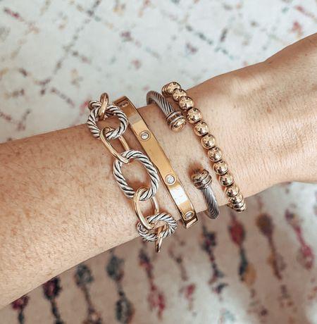 Stackable bracelets for under $20 @The Styled Collection   #LTKunder50 #LTKSale #LTKsalealert