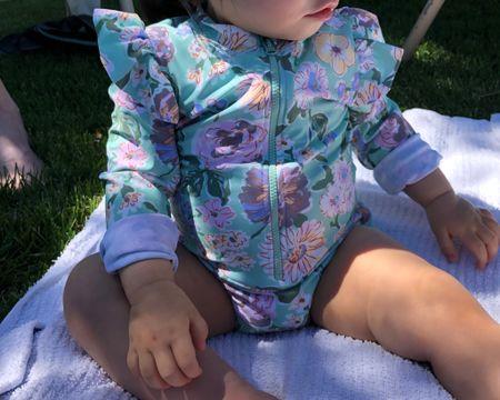 Best summer purchase for my little one! I LOVE this long sleeve frills baby girl swimsuit. cottonon kids! Via Amazon. So cute! http://liketk.it/3hSzW #liketkit @liketoknow.it #LTKbaby #LTKunder50 #LTKswim @liketoknow.it.brasil @liketoknow.it.europe @liketoknow.it.family @liketoknow.it.home