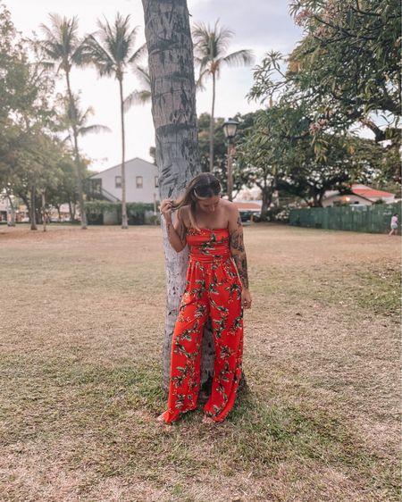 Similar jumpsuits to what I'm wearing! Cute floral patterns! http://liketk.it/3jXXF #liketkit @liketoknow.it #LTKunder100 #LTKunder50 #LTKstyletip