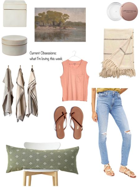 Current Obsessions: what I'm loving this week! The best eyebrow wax, vegan leather flip-flops, MOTHER denim, affordable decor, MADEWELL tank.   You can instantly shop all of my looks by following me on the LIKEtoKNOW.it shopping app http://liketk.it/3jLBV #liketkit @liketoknow.it #LTKunder50 #LTKunder100 #LTKhome @liketoknow.it.home