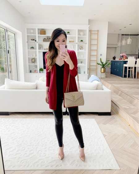 Cardigan and faux leather leggings both included in the #NSale! 😍❤️✨ http://liketk.it/3jINs #liketkit @liketoknow.it
