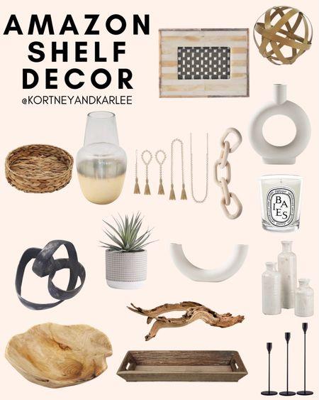 Amazon Shelf Decor!  Amazon shelf home decor | shelf decor from amazon | shelf decor | affordable shelf decor | amazon home favorites | amazon home | amazon home decor | amazon home edit | amazon home finds | Kortney and Karlee | #Kortneyandkarlee #LTKunder50 #LTKunder100 #LTKsalealert #LTKstyletip #LTKSeasonal #LTKhome @liketoknow.it #liketkit