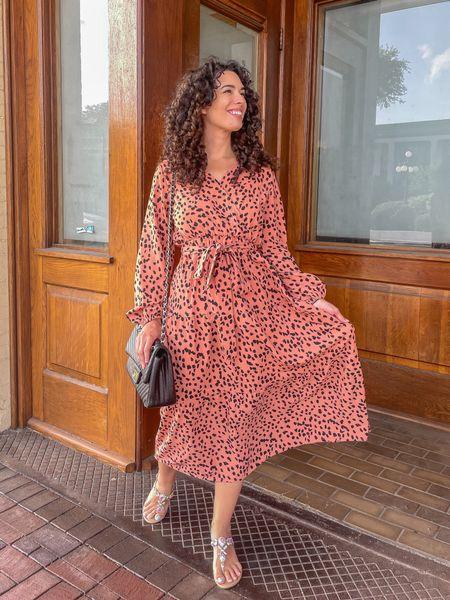 Midi dresses polka dot dress long sleeve dresses black quilted purse   #LTKunder100 #LTKitbag #LTKunder50