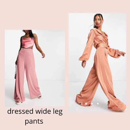 Dressed wide leg pants ✨✨ we love to wear these pants to a party or just daily for a sophisticated look!  #LTKworkwear #LTKwedding #LTKunder50