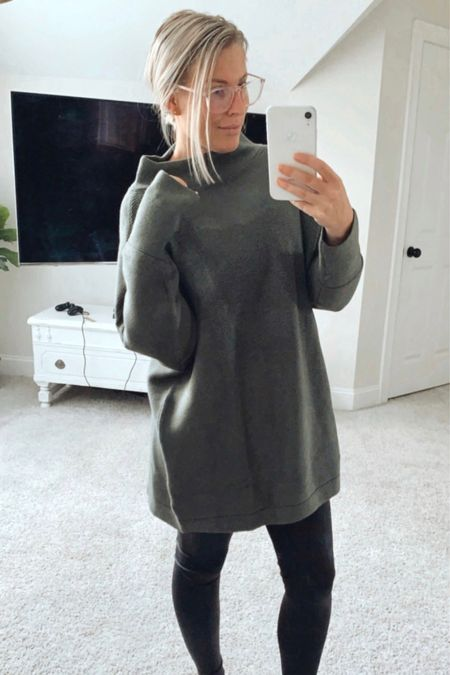 On sale and available in a ton of different colors/patterns! (I am in Army Green size M.) Sweater, cozy sweater, oversized sweater, gift idea, Amazon fashion  #LTKsalealert #LTKGiftGuide #LTKunder100