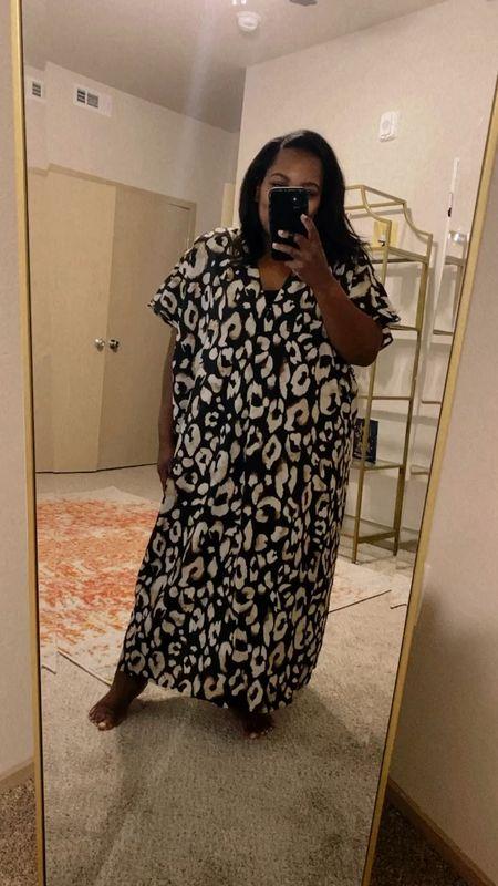 Hello Kaftan season! This leopard print one from H&M is beautiful! I'm wearing a Large.   #LTKstyletip #LTKunder50 #LTKtravel