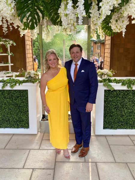 Had an incredible night celebrating Bobby Bones & his new wife Caitlin! Sharing some of the things that helped me pull together myself together and the new burnt orange tie I got for Ricky 🥳 #weddingguest #yellowdress #ltkmom #ltkmoms #burntorange #tie   #LTKmens  #LTKbeauty #LTKmens #LTKwedding