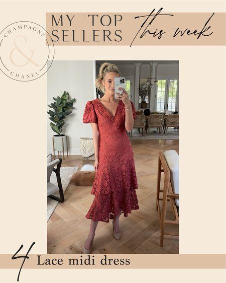 Top sellers - lace midi dress   #LTKSale #LTKunder100 #LTKwedding