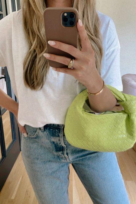 woven neon bag for under $100 #neon #wovenbag   #LTKunder100 #LTKitbag