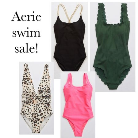 Thinking all things Spring Break on this snow day! @aerie is having a sale on swim so I've rounded up some of my favorite one piece suits for you.   http://liketk.it/38XvO #liketkit @liketoknow.it   #LTKsalealert #LTKswim
