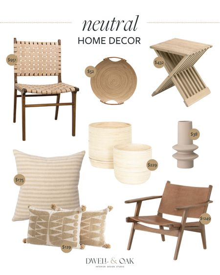 Neutral home decor from Lindye Galloway! Woven chair, accent chair, accent pillows and more #homedecor   #LTKhome #LTKstyletip