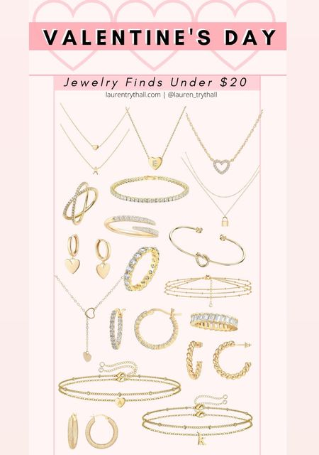 valentine's day jewelry finds under $20 from amazon! these amazon jewelry finds would be perfect for valentines day as a gift or to treat yourself with   #LTKVDay #LTKstyletip #LTKsalealert
