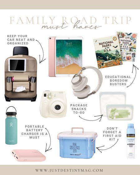 Going on a road trip this fall break?  Then you don't want to forget to pack these essentials!  From noise-cancelling headphones to portable battery chargers… sunscreens to snack packs… here is a list of my road trip must haves!  #roadtrip #essentials #fallbreak #fall #holiday #summer #trip #vacation  #LTKkids #LTKtravel #LTKfamily