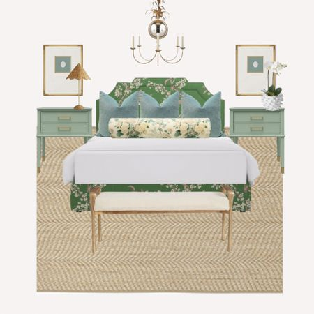 Loving the tones of green & sage in this bedroom I designed!   #LTKhome