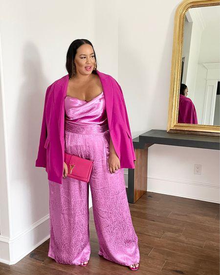 http://liketk.it/3fFNZ #liketkit @liketoknow.it #LTKcurves pink, suits, curvy, brights, pants, plus