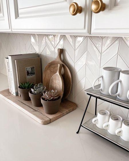 Kitchen decor, counter decor, white kitchen, amazon finds, Stylinaylinhome @liketoknow.it #liketkit http://liketk.it/3ifAi   #LTKhome #LTKstyletip #LTKunder100