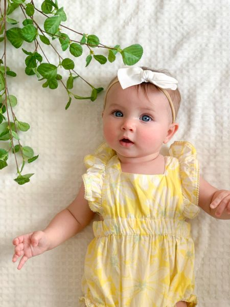 Baby summer outfit. Same print linked  #LTKfamily #LTKbaby #LTKunder50