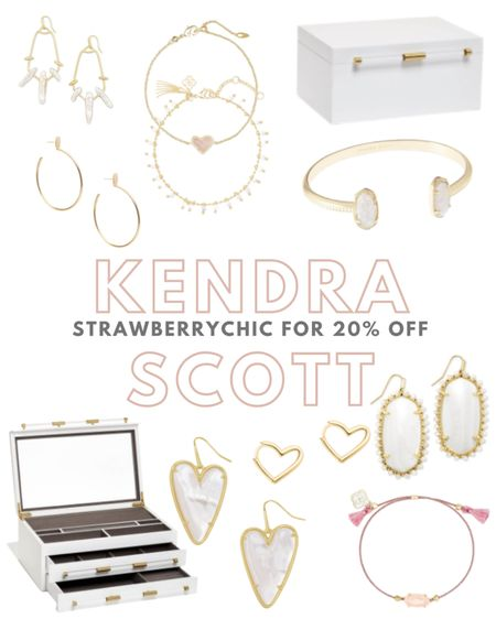 Rounding up my favorites from Kendra Scott! Take 20% off your purchase using code STRAWBERRYCHIC. It even work on my all time fav jewelry box.   #LTKsalealert #LTKstyletip #LTKunder100