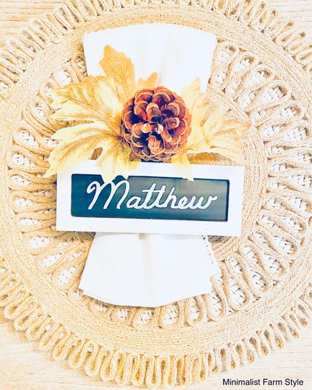 http://liketk.it/32b2N  Happy Holidays Friends, A super easy way to update a dinning table is by maintaining neutral chargers and tablecloths. Then, seasonally adding faux or real autumn or winter leaves or greenery. Pine cones work for both Thanksgiving and Christmas. Lastly, add a table name and you're done!   Follow me on the LIKEtoKNOW.it shopping app to get the product details for this look and others.  @liketoknow.it     #liketkit