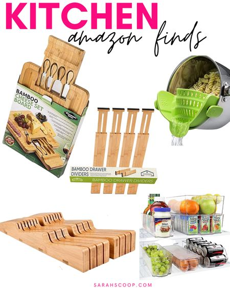 These kitchen essentials will transfer you into the perfect chef! 👩🏻🍳   #bamboo#drawerdividers#Homemaid#indrawer#knifeblock#cheeseboard#dyanmicgear#fridgeorganizer#Greenco#SnapNStrain#KitchenGizmo#Amazon#Amazonfinds#amazonessentials#kitchenessentials#kitchenfinds#musthaves  #LTKunder50 #LTKGiftGuide #LTKhome