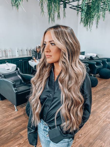 New hair - top and fave curling iron linked + some of my fave hair products
