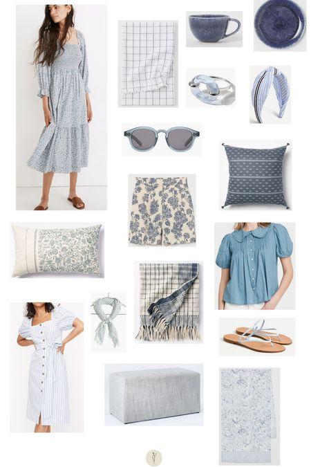 Make it blue: lovely blue favorites for home and closet.   #LTKunder50 #LTKbump #LTKhome