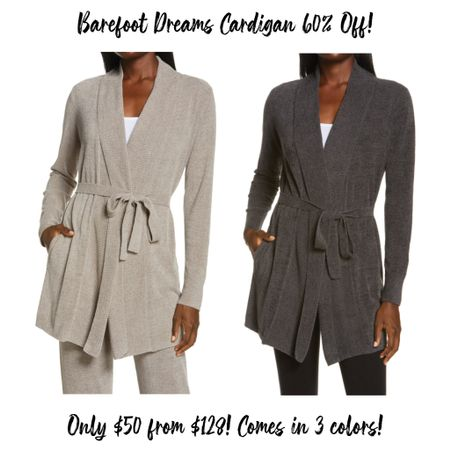Barefoot Dreams cardigans are 60% off and only $50 from $128! These would make amazing Christmas gifts! There are 3 colors available!  #LTKstyletip #LTKsalealert #LTKunder50