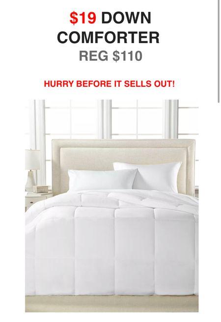 Down comforter on sale.   #LTKfamily #LTKhome #LTKsalealert