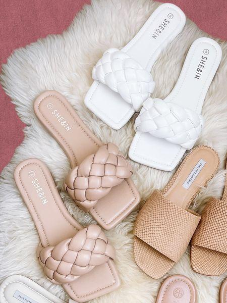 Spring shoes under $50 | saks fifth avenue | shein | braided sandals | nude sandals | true to size   #LTKunder50 #LTKstyletip #LTKshoecrush