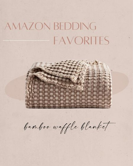 Amazon bedding favorites: bamboo waffle blanket ✨ http://liketk.it/3iSNv #liketkit @liketoknow.it #LTKhome #LTKunder50   Amazon, Amazon home, home decor, bedding