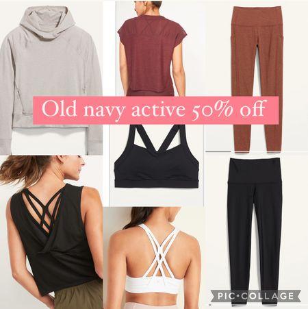 Old navy active 50% off #workoutclothes #fitness #oldnavy #leggings #sportsbra   #LTKsalealert #LTKunder50 #LTKfit