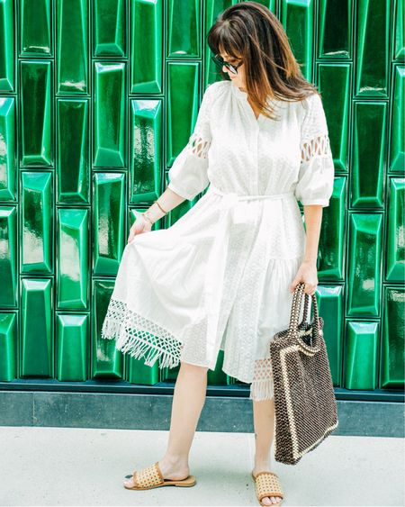 Is it even summer until you have worn your #lwd or little white dress? From simple silhouettes to special details, there is a LWD for every hot weather occasion.  . Except summer weddings. It should go without saying, but I actually had a lady wear a white formal gown to mine so consider this my PSA  . .  You can instantly shop my looks by following me on the LIKEtoKNOW.it shopping app http://liketk.it/3iyGI #liketkit @liketoknow.it #LTKstyletip #LTKunder100 #LTKsummer