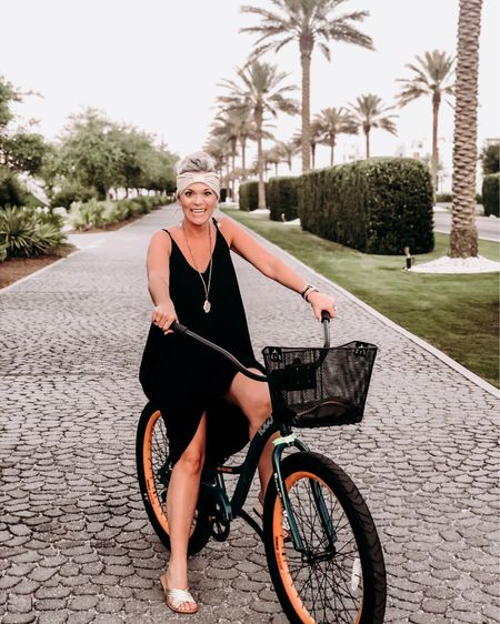 Biking to dinner has been one of my favorite things about this vacation. This perfect maxi goes from bike ride to fine dining just beautifully (and it comes in like 100 colors). I think it's safe to say I'm officially a #30a super fan. Follow me on the LIKEtoKNOW.it app to get the product details for this look and others. http://liketk.it/2C2JX #liketkit @liketoknow.it #LTKsalealert #LTKshoecrush #LTKspring #LTKstyletip #LTKtravel #LTKunder50 #LTKunder100
