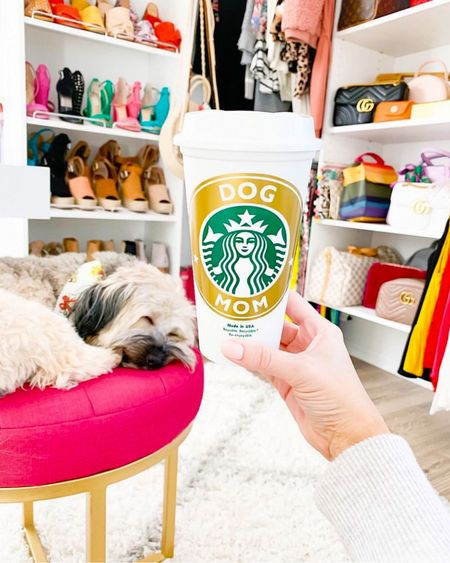 Good morning from Martha Mae! 🐶💕☕️ We've got a busy day ahead trying to fix my site 🤯 and shooting a fun campaign 📸 and hopefully squeeze in a little pool time with my mom and Sissy! 👯♀️ PS - you can use code SARA10 when buying your personalized reusable coffee cup! Happy Friday girlfriends! 🙌🏻😘🙌🏻 - - -  http://liketk.it/2EmQS @liketoknow.it #liketkit