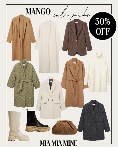 Mango sale picks - mango camel coats on sale, fall coats including camel coats, quilted coats, plaid blazers and lug sole boots   #LTKunder100 #LTKSeasonal #LTKsalealert