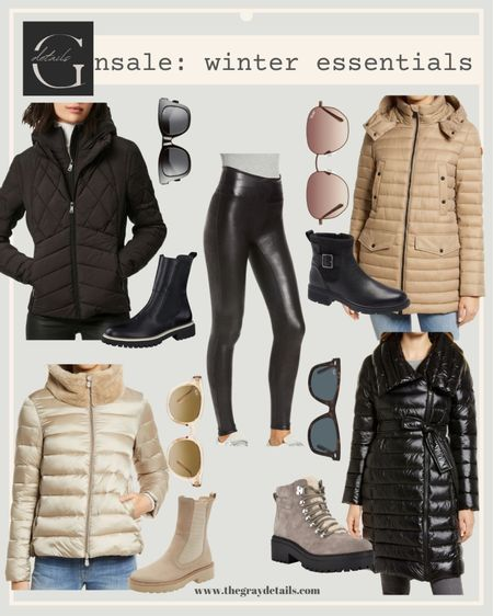 Best of winter essentials in the Nordstrom anniversary sale / puffer jacket / combat boots / winter boots / quilted jacket / ski trip : black jacket : #nsale / spanx leggings   #LTKtravel #LTKsalealert #LTKshoecrush