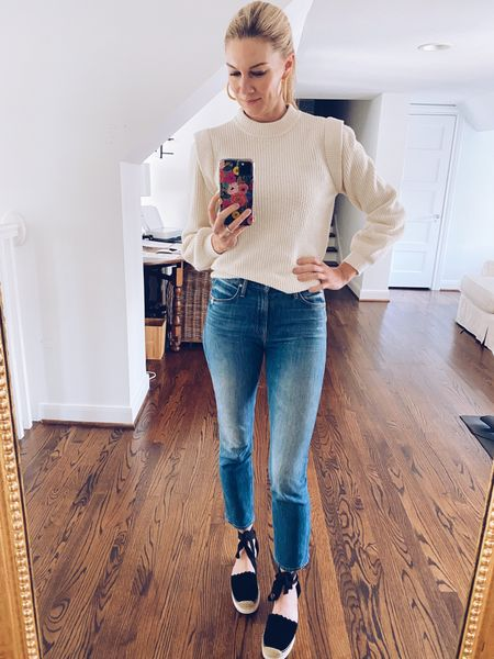 It's cold in my house, so guess what I went to throw on? My new Target sweater, of course! It's the softest sweatshirt/sweater I own! It feels like a Barefoot Dreams blanket! For sizing reference: I'm wearing an xs. #target  #LTKstyletip #LTKunder50