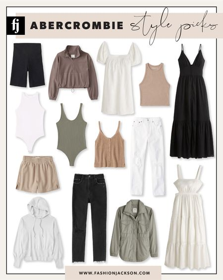 So many great styles from Abercrombie for summer! Love these summer dresses, tank tops, and loungewear   #LTKunder100 #LTKstyletip #LTKunder50
