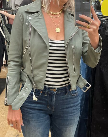 This jacket you guys! 💚 So good and so worth splurging on! Love this color but also comes in black.    #LTKsalealert #LTKstyletip #LTKtravel