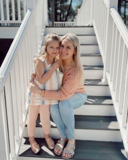 Glitter two strap buckle slides outfit! http://liketk.it/3cajF #LTKSpringSale #LTKfamily #LTKshoecrush  #liketkit @liketoknow.it