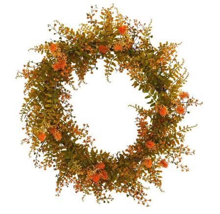 Beautiful faux autumn wreath. Under $50.  #LTKstyletip #LTKSeasonal #LTKhome