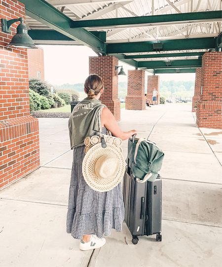 Travel must haves include a maxi dress, my loandsons weekender, and the top tote to keep my hats secure!  #LTKunder100 #LTKtravel